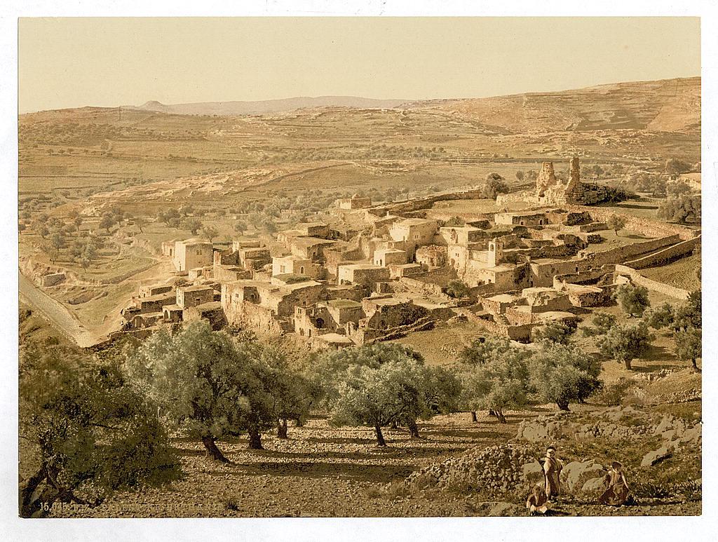 上图:1890年的伯大尼村照片。