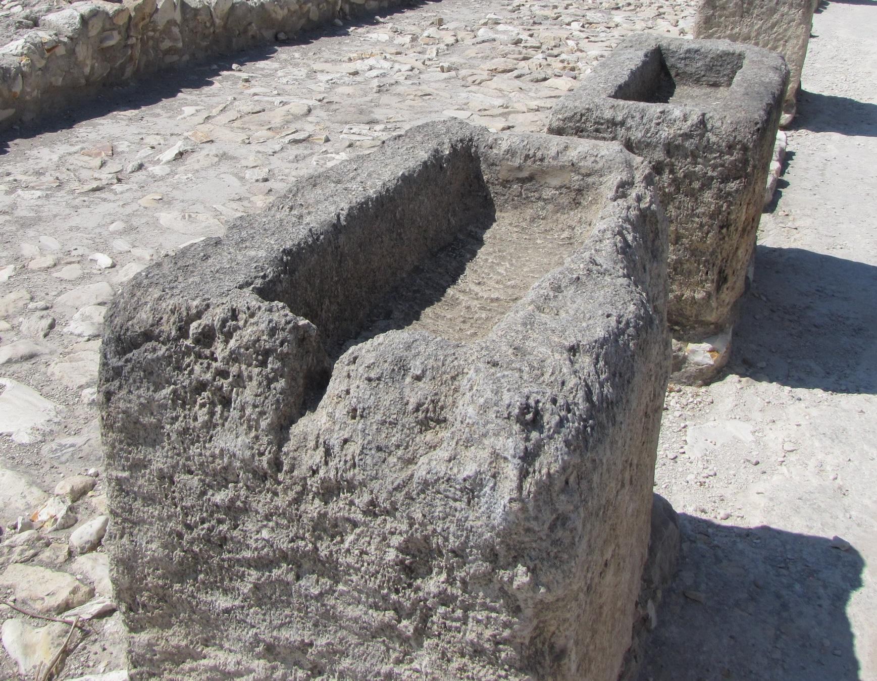 上图:以色列米吉多遗址两千多年前的石头马槽,新生的救主基督很可能就是躺在这样冰冷的马槽里。