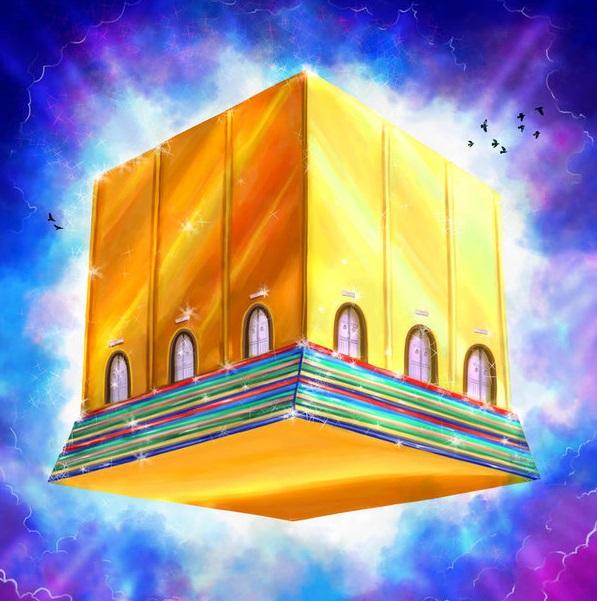 上图:新耶路撒冷艺术想象图。新耶路撒冷是个立方体,和至圣所的形状一样(王上六20),象征新耶路撒冷就是一个至圣所,神在其中「与人同住」(启二十一3节)