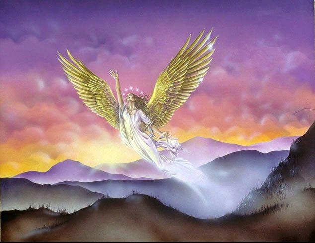 上图:大鹰的两个翅膀赐给十二星冠妇人的异象。