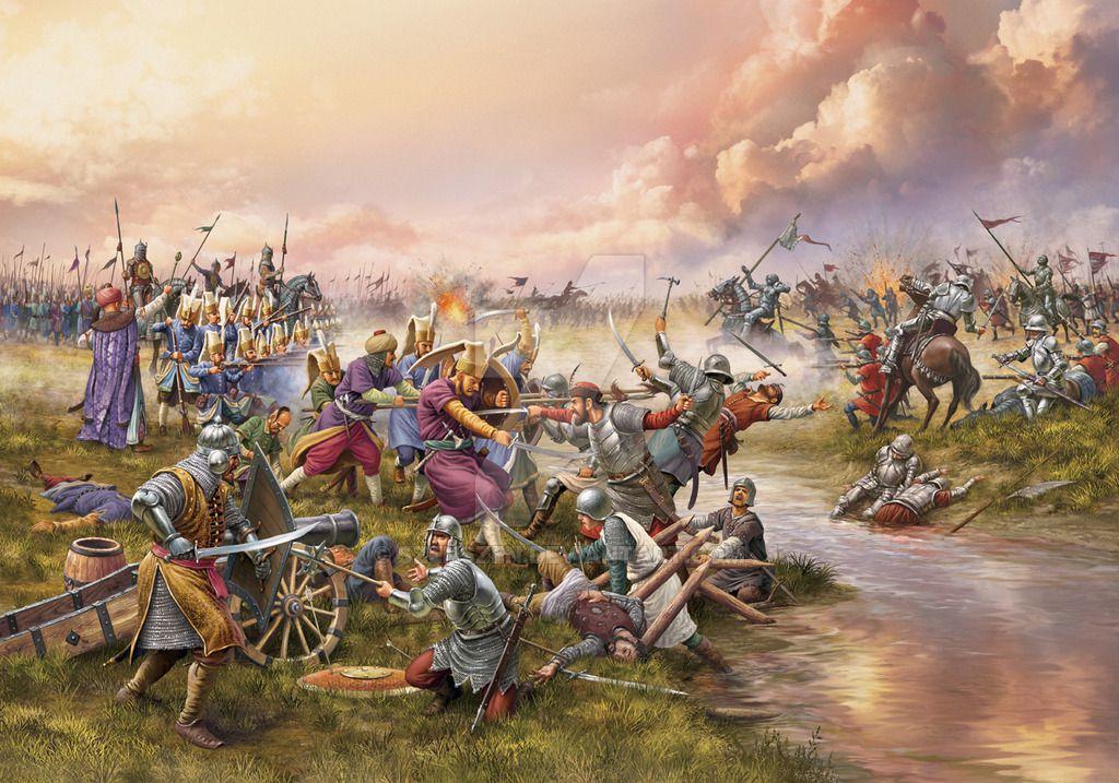 上图:1526年8月29日,奥斯曼土耳其帝国在摩哈赤战役(Battle of Mohacs)中获胜,得到匈牙利西南部作为在东欧的稳固基地,进攻中欧整整一个世纪,并于1529年围攻神圣罗马帝国首都维也纳(Siege of Vienna)。面对奥斯曼威胁的空前增强,本来准备镇压新教的神圣罗马帝国被迫与新教暂时妥协,宗教改革得以继续发展。 主后7世纪,以实玛利的后裔穆罕穆德创立伊斯兰教,而奥斯曼帝国(Ottoman Empire)是15-19世纪最强大的伊斯兰教势力。 1453年,奥斯曼帝国攻陷君士坦丁堡,使希腊文圣经传到欧洲,最终引发了1517年的宗教改革。 1521年,神圣罗马帝国皇帝查理五世颁布沃尔姆斯敕令,宣布马丁·路德及其追随者为非法。而与此同时,奥斯曼帝国苏莱曼一世攻占贝尔格莱德,并于1521-1552年十次进攻欧洲,每一次奥斯曼的威胁都解除了新教的压力、巩固了宗教改革,不是促使查理五世对新教从镇压改为妥协,就是中断了镇压新教的计划,或者援助了新教诸侯同皇帝的战争。而一旦威胁稍有减轻,查理五世就取得了镇压新教的战争胜利。 可以说,奥斯曼帝国是宗教改革成功必不可少的外部助推器。马丁·路德指出,土耳其人显然是神派来的。