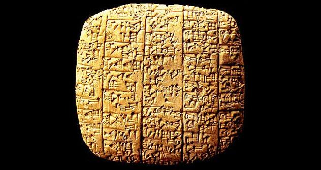 上图:主前24-22世纪的埃勃拉泥版(Ebla tablets),包括1800块完整粘土版,1974年出土于叙利亚的Ebla。埃勃拉泥版提到有一位至高神从无到有创造了天、太阳、月亮、星星及地球,证明主前24世纪就已经存在一神信仰,并非是从多神演化到一神。埃勃拉泥版所记录的法律,也证明《申命记》中记录的律例并非后来才有的发明。