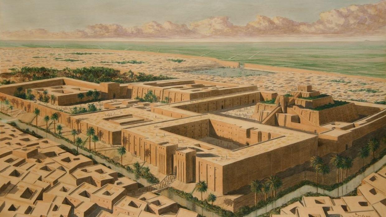 上图:吾珥第三王朝时期的吾珥城示意图。吾珥最早的建筑始于主前5500年左右的欧贝德文化(Ubaid Period),主前27世纪吾珥重新繁荣,成为苏美尔人敬拜月神的圣地。主前2112年,乌鲁克(Uruk)人乌尔纳姆(Ur-Namma,主前2112年-2095年在位)占领吾珥,建立了吾珥第三王朝(Ur III dynasty,主前2112-2004年),统一整个美索不达米亚,建立起了强大的中央集权制王朝,被称为复兴的苏美尔帝国(Neo-Sumerian Empire)。