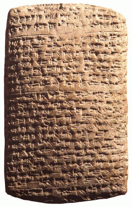 上图:埃及阿马尔奈文书(Amarna letters)是一批刻在泥板上的书信,以楔形文字写成,大部分是主前16-11世纪古埃及新王国时期的外交书信。其中也提到了类似「仰起脸来,光照我们」(诗四6)的比喻。