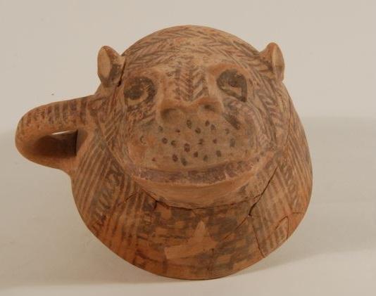 上图:一个主前11世纪狮子形状的以色列陶杯。现藏于耶路撒冷的以色列博物馆(The Israel Museum, Jerusalem)