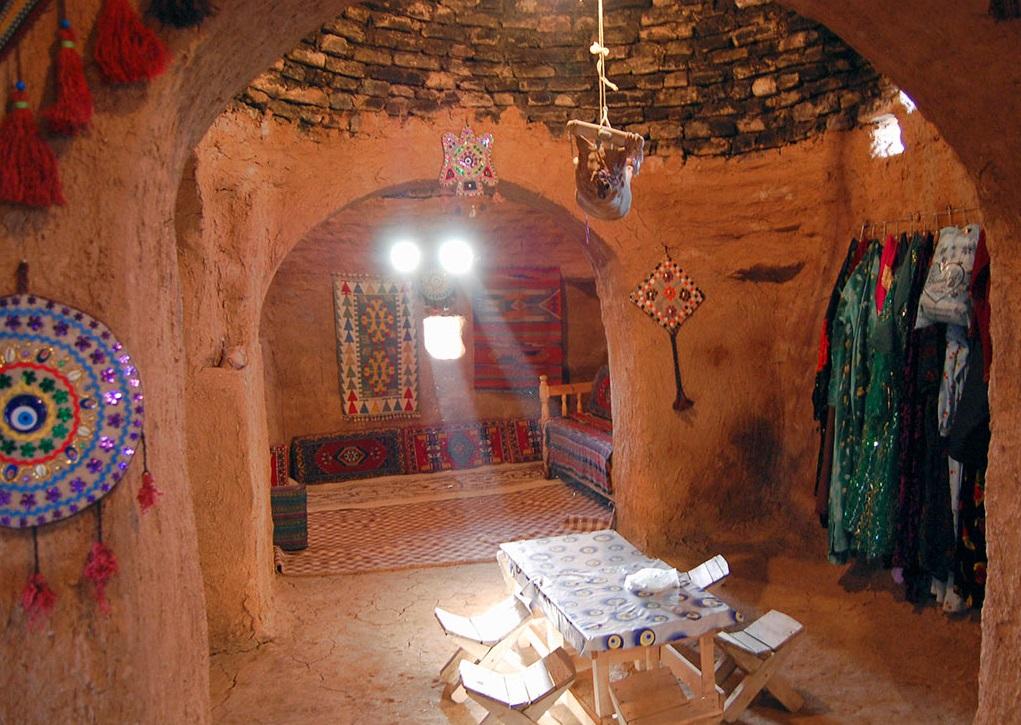 上图:哈兰蜂巢房的内部。雅各的新房可能就是这种房子。