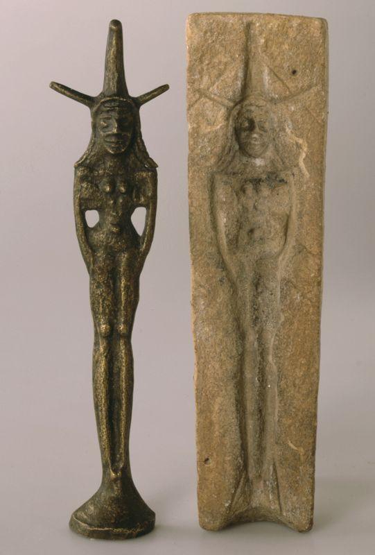 上图:亚伯拉罕时代的迦南人以行淫的方式敬拜女神,以谋求多子和丰收。上图是主前19-17世纪迦南人用来制作女神像的模子。现藏于耶路撒冷的以色列博物馆(The Israel Museum, Jerusalem)。