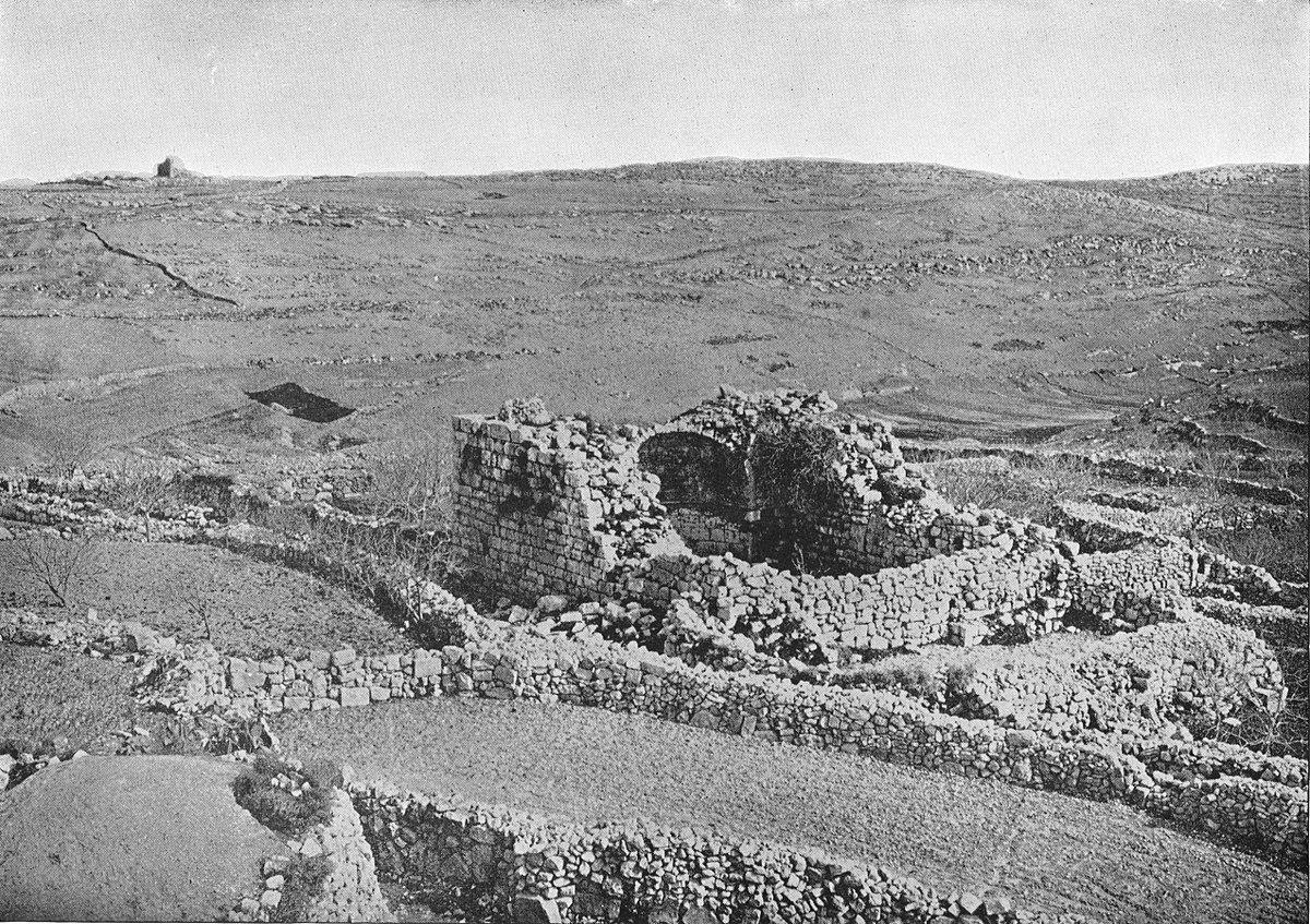 上图:19世纪的伯特利遗址(现名Beitin)照片。