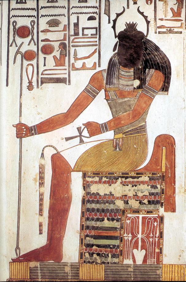 上图:古埃及神话中的圣甲虫神凯布利(Khepri),以圣甲虫作为头,是太阳神拉(Ra)的另一个神格,象征日出和再生,因为太阳的升落就像圣甲虫滚动粪球。所谓的圣甲虫(Scarab),就是屎壳郎。