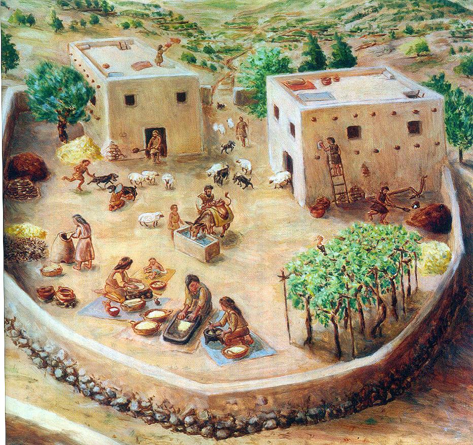 上图:古代以色列人的家族大院,被称为「父亲的家室」(Bet Ab)。Bet Ab由同一家族的一些房子和一个公共空间组成,每个房子居住着一个家庭。每个家庭有自己的土地,但所有的家庭听从同一个大家长。Bet Ab是古代以色列社会的基础单元,可能几代同堂,居住着家长夫妻、儿子、儿媳、孙子、孙媳、未婚子女、奴仆、雇工、寄居的客人、寡妇、孤儿。其中雇工、寄居的客人属于「外人」。主耶稣说:「在我父的家里有许多住处;若是没有,我就早已告诉你们了。我去原是为你们预备地方去」(约十四2),意思就是把教会聘为新娘,然后要回到「父亲的家室」去准备建造新的房子,迎娶新娘。