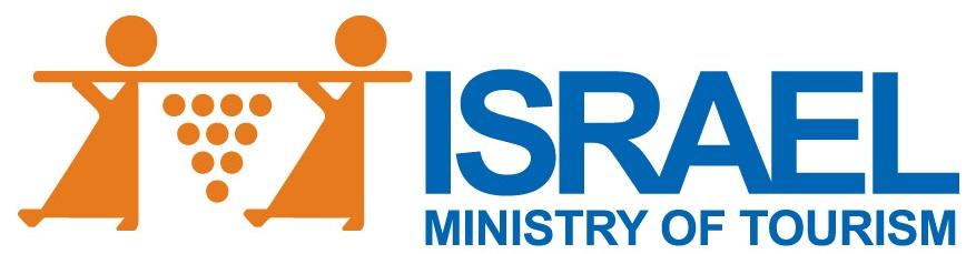 上图:现代以色列旅游业的标志:两个探子抬着一串葡萄。