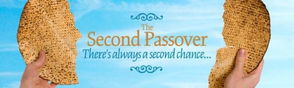 上图:第二个逾越节(Pesach Sheni,Second Passover)的宣传画。犹太人认为第二个逾越节的意义是:「总有第二个机会的 There's always a second chance...」,甚至以为是「给神、别人和自己第二次机会 Give God, Others and Yourself a Second Chance」。然而,人若以为一直有「第二个机会」,因此「藐视祂丰富的恩慈、宽容、忍耐」(罗二4)、「竟任着你刚硬不悔改的心」(罗二4),结果就是「为自己积蓄忿怒,以致神震怒」(罗二5)。esach Sheni,Second Passover)的宣传画。犹太人认为第二个逾越节的意义是:「总有第二个机会的」。但人若以为一直有「第二个机会」,因此「藐视祂丰富的恩慈、宽容、忍耐」(罗二4)、「竟任着你刚硬不悔改的心」(罗二4),结果就是「为自己积蓄忿怒,以致神震怒」(罗二5)。