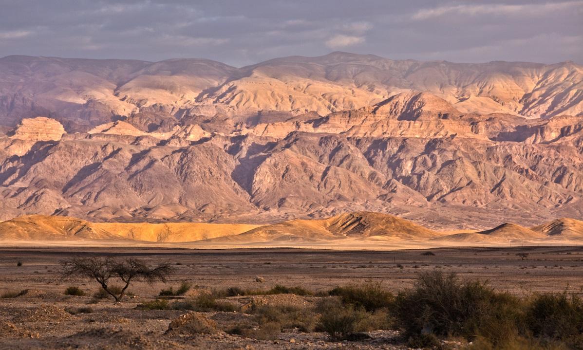 上图:约旦河东、耶利哥对面的摩押平原,位于约旦高原和约旦河之间,沿着南北延伸。这里是以色列人在渡过约旦河进入迦南之前最后安营的地方。