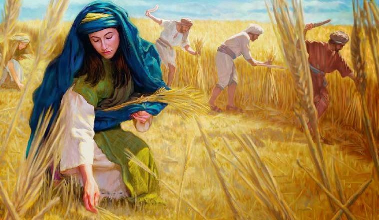 上图:路得捡麦穗的艺术想象图。摩押寡妇路得,靠着在波阿斯的田间「拾取麦穗」,和婆婆拿俄米渡过了难关(得二2),后来嫁给了波阿斯,成为大卫的曾祖母,列在主耶稣的家谱中(太一5)。