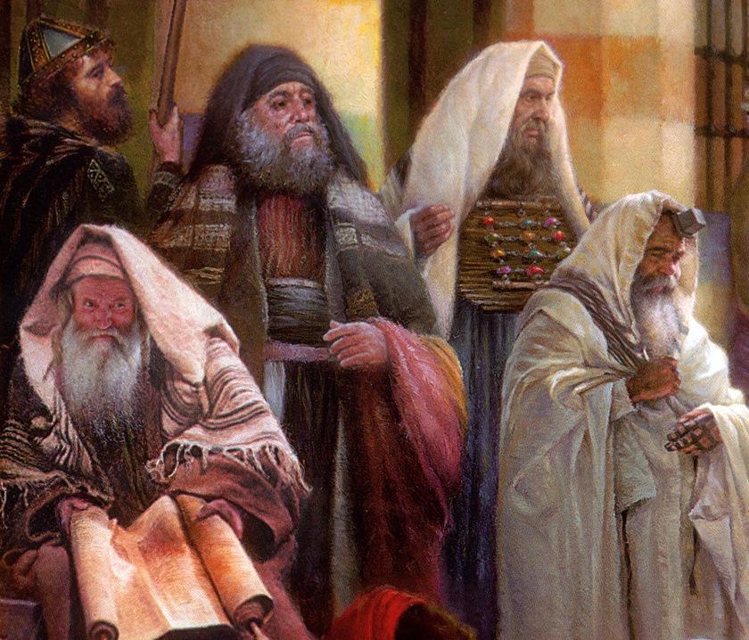 上图:第一世纪的犹太人。当时有许多犹太人侨居罗马城,主后19年,凯撒提庇留(Tiberius;主后14-37年)曾征召4000名18-45岁的犹太人服役,可见当时罗马城的犹太人数目可能接近3万人,占总人口的3%。主后49年,凯撒克劳狄(Claudius;主后41-54年)下令把犹太人驱逐出罗马城(徒十八2),但他们不久之后又返回罗马城(罗十六3)。散居各地的犹太侨民为了保持自己独特的文化和信仰,跟外邦人的关系常常变得很紧张。