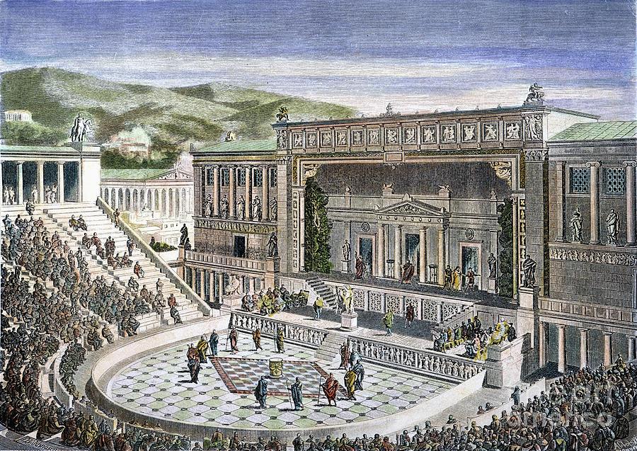 上图:雅典酒神剧场(Theatre of Dionysos)举行戏剧表演。「加上 epichoregeo」原文ἐπιχορηγέω 是一个生动的比喻,取自雅典戏剧节庆的一个典故。有一位富有的人付了合唱团(chorus)的费用,并联合了诗人和政府人士共同推出一场话剧。有几位像这样的富人互相比赛,看谁最慷慨购买道具支持合唱团。于是这个字就代表慷慨大方,不计代价。而基督徒也必须这样不计代价地与神配合,好活出一个正常的基督徒生活。