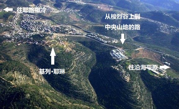 上图:基列·耶琳遗址。基列·耶琳位于犹大山地,在从沿海平原经梭烈谷上到耶路撒冷的路上,海拔约720米。