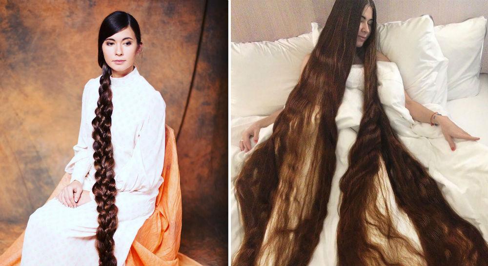 上图:拉脱维亚的Aliia Nasyrova坚持20年不剪头发,头发长达2.3米,重2000克。而押沙龙每年剪下来的头发就有2280克,比上图中的头发还要多出10%,这一头靓发可以帮他吸粉无数。