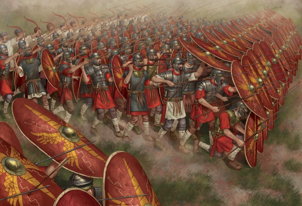 上图:著名的罗马步兵方阵(Roman infantry tactics),是罗马军团(Roman legion)的基本作战单位,以其严明的纪律和强大的战斗力征服了地中海沿岸。罗马步兵方阵的战斗力来自他们严明的纪律,基督的精兵也要「循规蹈矩」(西二5),信心才能「坚固」(西二5)。保罗为神「颠狂」,却为人「谨守」(林后五13),强调教会中「凡事都要规规矩矩地按着次序行」(林前十四40),因为「先知的灵原是顺服先知的」(林前十四32)。我们若光有传福音的热情和爱心,却随心所欲、不讲规矩,结果必然会在异端和仇敌面前一败涂地。