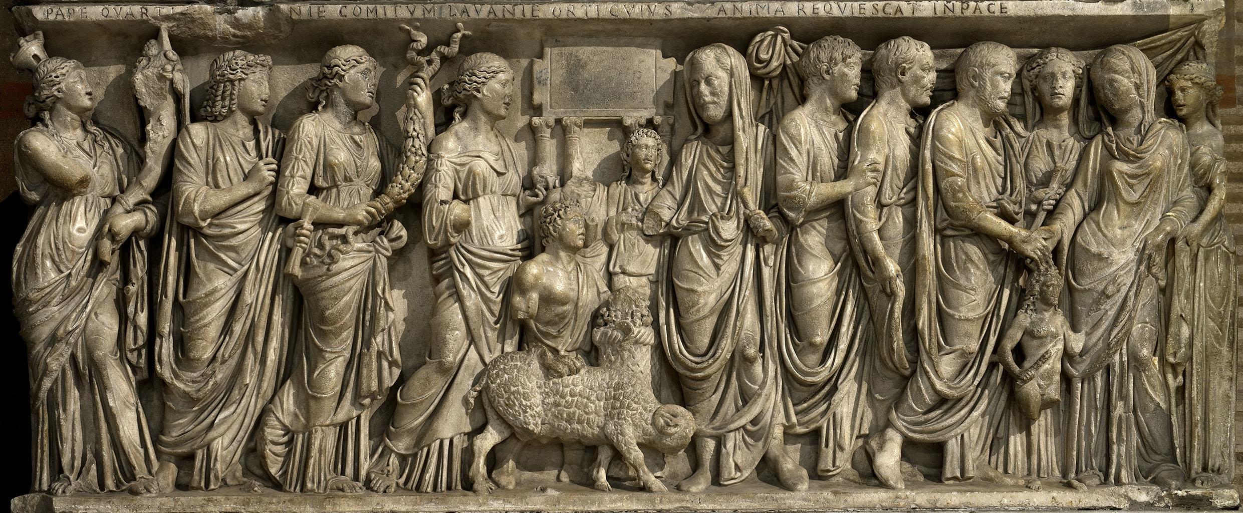 上图:古罗马婚礼浮雕。古代希腊-罗马的婚姻是严格的一夫一妻制,社会鼓励寡妇或离婚的妻子再婚,寡妇可以继承丈夫的遗产。罗马人传统上认为婚姻的目的是为了生产合法的孩子,公民生产新公民。合法婚姻的年龄为女孩12岁,男孩14岁。大多数罗马妇女在十几岁到二十出头结婚。