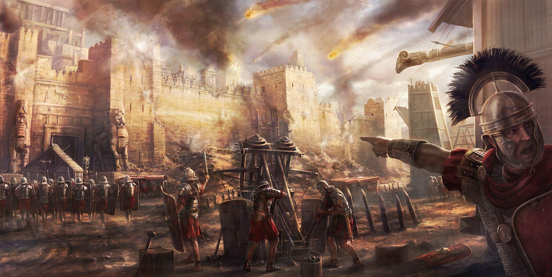 上图:罗马军队攻城的艺术渲染图。保罗使用了许多军事术语来比喻属灵争战的实际是「将人所有的心意夺回,使他都顺服基督」(林后十3-6)。
