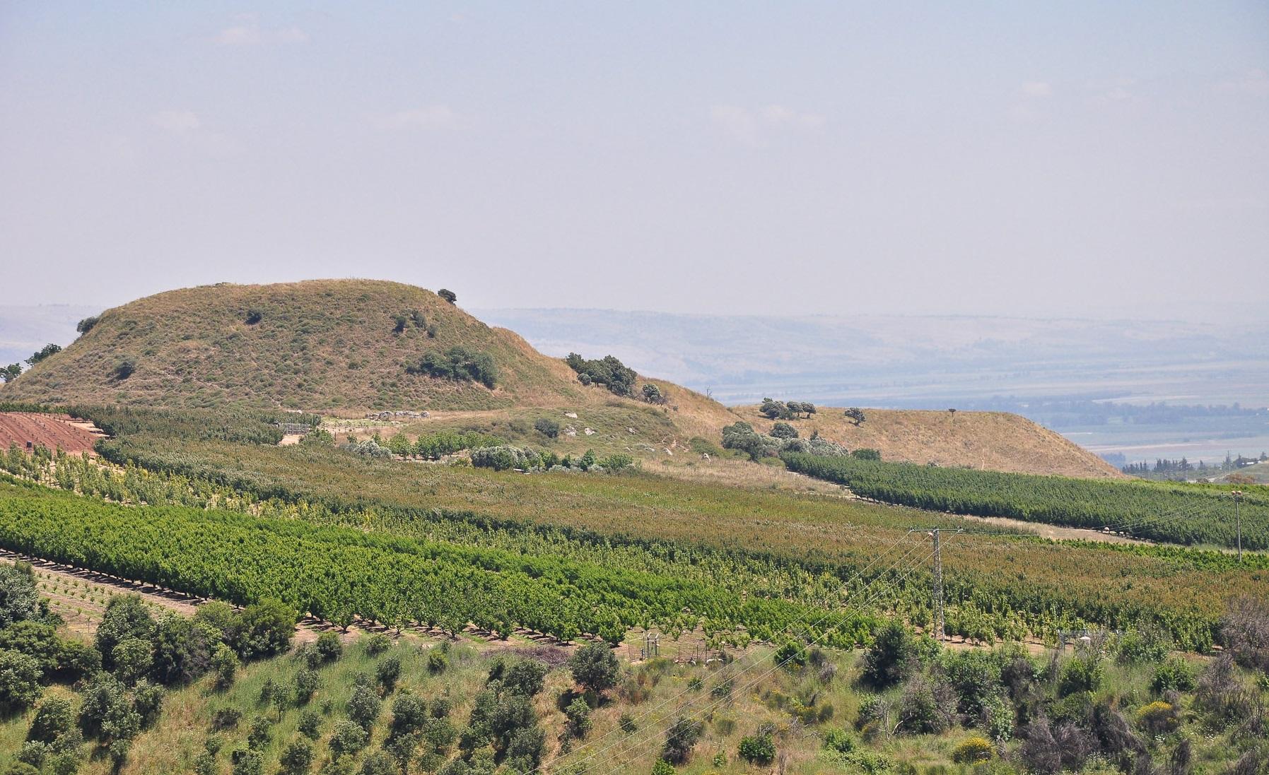 上图:伯·玛迦的亚比拉遗址(Tel Abel Beth Maacah),位于但遗址(Tel Dan)西边约6.5公里。这里是以色列的最北部。