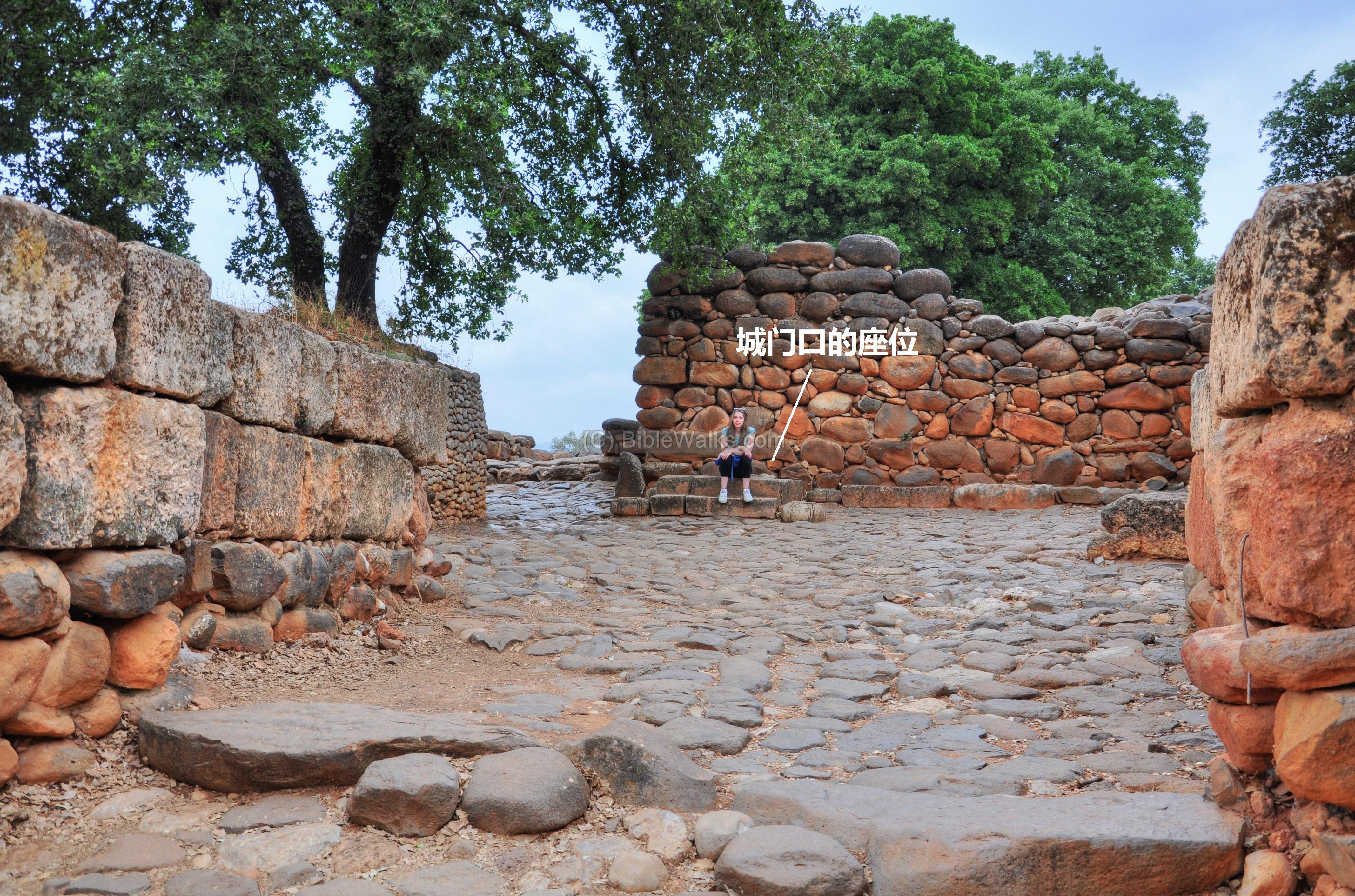 上图:但城遗址(Tel Dan)城门口的座位,用于礼仪、诉讼。