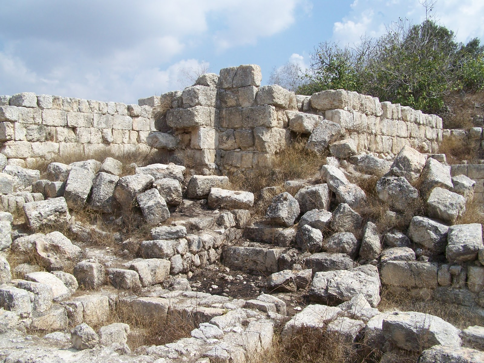 上图:撒马利亚卫城挖掘出来的白色王宫遗址,可能就是亚哈所「修造的象牙宫」(王上二十二39),于主前721年被亚述摧毁。城墙厚约五英尺,用当时最上等的工艺筑成。亚哈王进一步加强城防设施,加建了厚度超过三十英尺的夹壁城墙。