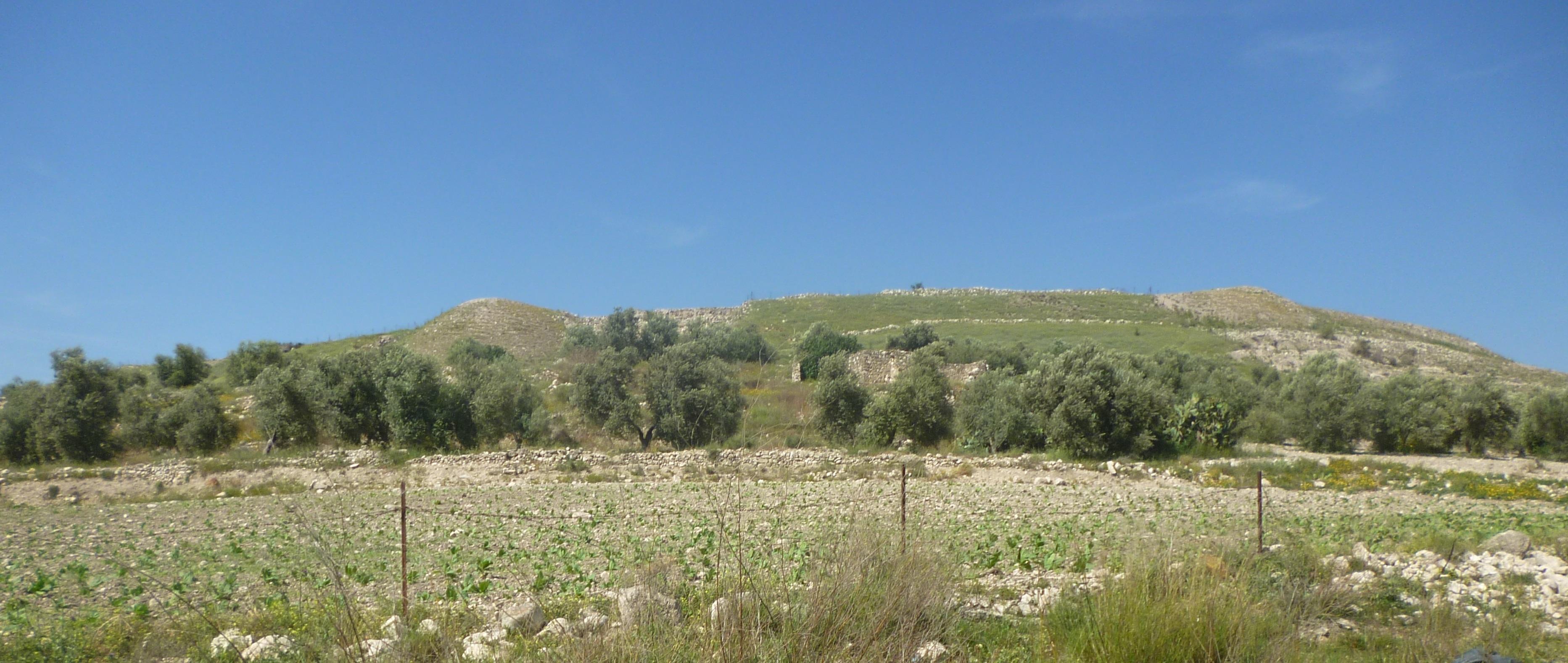 上图:多坍遗址(Tel Dothan)旁边的山丘。「满山有火车火马围绕以利沙」(王下六17)。