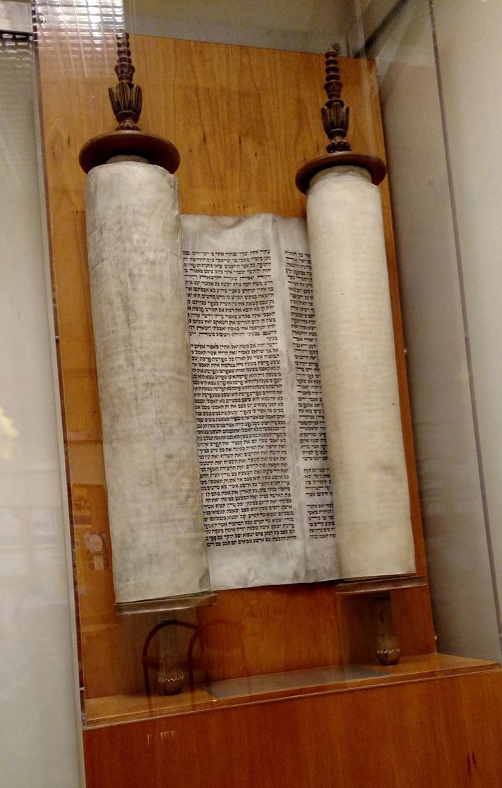 上图:犹太人从纳粹占领的捷克斯洛伐克抢救出的《妥拉》羊皮纸经卷。捷克斯洛伐克的犹太人在二战期间,冒着生命危险保存了1600卷《妥拉》(摩西五经)。虽然犹太人有各样的属灵难处,但忠心完成了神给他们保存律法书的托付,使旧约能完整保存至今。