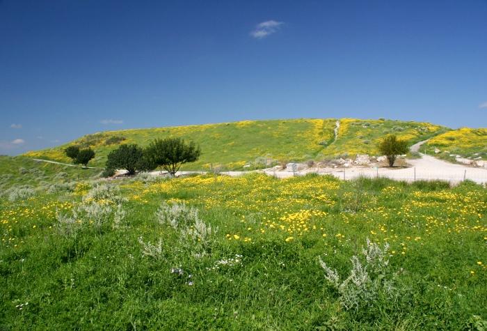 上图:位于耶路撒冷西南、拉吉东北约6公里的桑达卡纳遗址(Tell Sandahannah),被认为就是玛利沙。