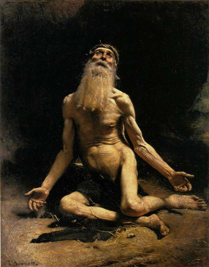上图:法国画家里欧·博纳(Léon Bonnat,1833-1922年)1880年的油画《约伯》。