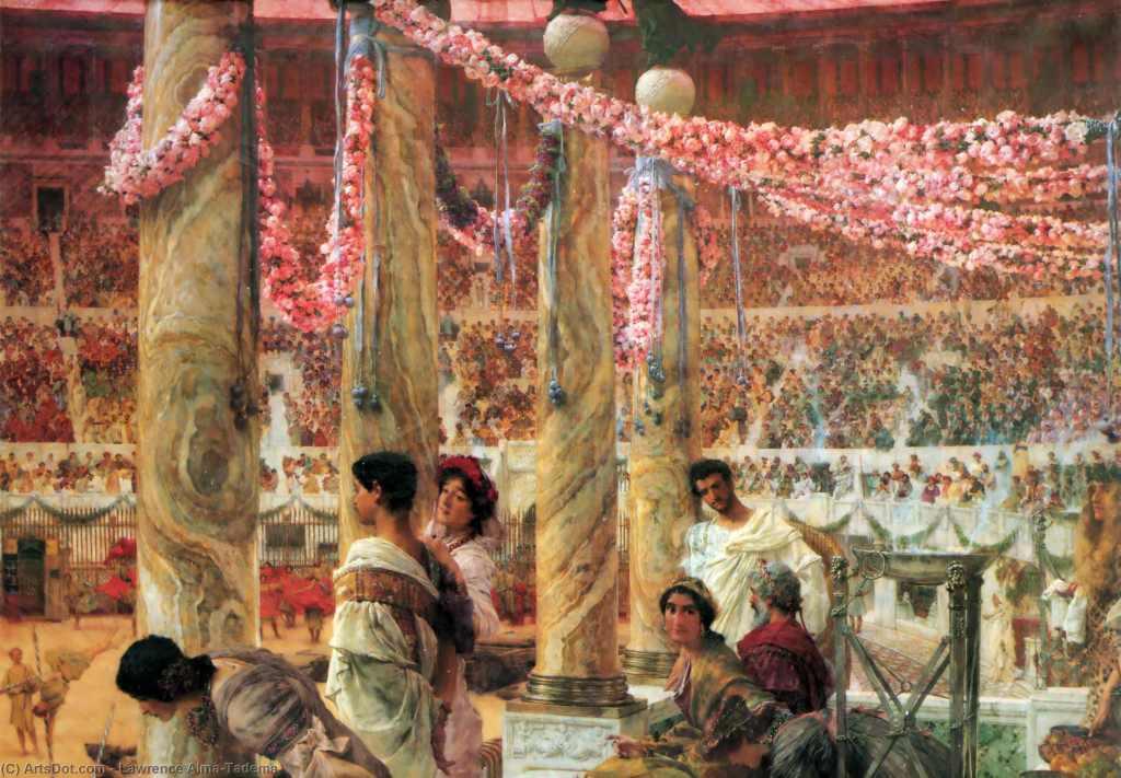 上图:油画《卡拉卡拉和盖塔》(Caracalla and Geta,Sir Lawrence Alma-Tadema于1907绘制)。罗马皇帝卡拉卡拉(大名Marcus Aurelius Antoninus,小名Caracalla ,主后211-217年独自执政)并非纯粹的罗马人,而是柏柏尔人和阿拉伯人后裔,和他弟弟盖塔(Publius Septimius Geta)是共治皇帝。主后211年12月,卡拉卡拉杀死了盖塔,半年月后颁布了安东尼努斯敕令(Constitutio Antoniniana,Edict of Caracalla),宣布赋予所有罗马帝国出身的自由人完整的罗马公民权。只有罗马公民才能在罗马军团中服役,但在212年以前,只有意大利和罗马殖民城市的居民、罗马公民的后裔、以及各行省的少数贵族才拥有完整的公民权,其他大多数人只是非公民或如拉丁公民(Latin Rights)。为了增加提供税收与服役的公民数量,卡拉卡拉开始普发公民权。但由于罗马公民不需要缴纳所得税,此举反而造成税金锐减。而全民都成为公民以后,不但没有增强帝国的凝聚力、重建一元化的价值认同,反而造成了公民的荣誉感下降,让全体罗马人都丧失了共同感,并导致了外省人对于皇位的觊觎。普发公民权标志着罗马帝国的一元化因着过度扩张而崩解,是三世纪危机和罗马帝国衰落的重要原因。日光之下无新事,今天,欧美一些国家借助移民来提振经济,通过接纳非法移民来扩大选民基础,利用意识形态和政治正确来巩固选民基本盘,其目的和结果都与卡拉卡拉普发公民权有相似之处。