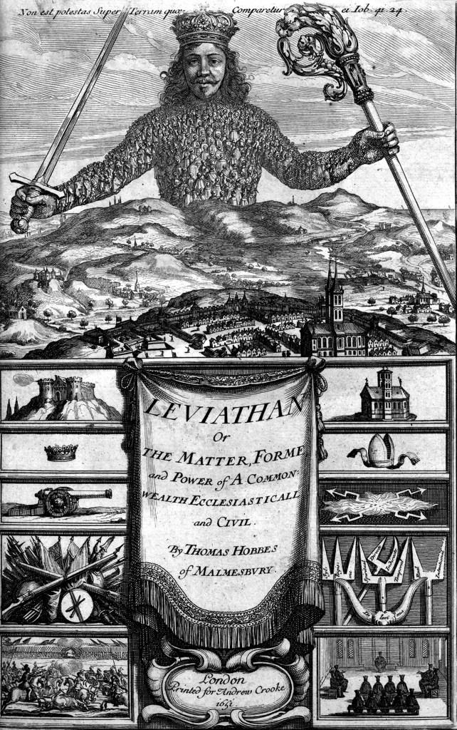 上图:英国政治哲学家托马斯·霍布斯(Thomas Hobbes)于1651年出版的《利维坦》(Leviathan)封面,上方用拉丁文写着:「在地上没有像它造的那样,无所惧怕」(伯四十一33),下方两侧分别代表了政治和宗教的力量。「利维坦」是旧约中的怪兽「鳄鱼」(伯四十一1)的音译,在本书中比喻强势的国家。该书分为四部分:论人、论共同体、论基督徒共同体、论黑暗王国,系统阐述了国家学说,探讨了社会的结构,其中的人性论、社会契约论、以及国家的本质和作用等思想,成为现代西方政治哲学的基础。 圣经赋予政府的职责不是包办一切,而是「秉公行义」(代上十八14;代下九8),使百姓「可以敬虔、端正、平安无事地度日」(提前二2)。因此,君王、祭司、先知和审判官只是被赋予有限资源的「小政府」,以便让神的百姓可以自由地为个人的本分在神面前作出明智的选择,并且自己为选择的后果负责。但是,当人民不相信神、不相信永恒的时候,唯一的盼望只在地上、就在今生。因此,人不再是基督身体里不可或缺的肢体,而是利维坦巨人身上的一个细胞,为了巨人的健康、每个细胞都是可以牺牲的。因此,「大政府 Big government」将集中资源、包办一切,相信少数最聪明的人更有智慧拯救世界,相信少数最高尚的更有资格为民作主,相信目的可以使手段正义(The end justifies the means),相信社会可以不断进步、世界在不断牺牲之后可以变得更加美好。在历史上,大政府常常在基建、抗灾和战争方面比小政府更有效率,而更多的时候却是大胆假设、暴力推行,让人用自由交换利益、越来越倚赖政府。同时,为了解决世人都自以为「如神能知道善恶」(创三5)的天性,大政府必然要用各种形式的假先知来实施思想控制,最终是用撒但的思想来实现巴别塔式的统一,世人一起「拜那龙——因为牠将自己的权柄给了兽,也拜兽」(启十三4)。因此,大政府实际上就是敌基督模仿基督的统治,用地上的冒牌天国来代替神的国。进入二十一世纪以后,随着生产过剩、资本全球化、福利社会、数字支付、大数据、人工智能、网络技术的发展,世界上已经形成了一个巨大的「资本+科技+媒体+娱乐+教育+政治」的人本主义联合体,使控制全球的利维坦式大政府日益成为可能。