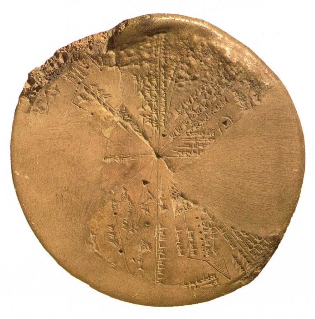 上图:亚述王亚述拔尼巴(Ashurbanipal,主前669-631年)的尼尼微图书馆中出土的巴比伦星图,主要星座被分为八个区域。巴比伦占星术(Babylonian astrology)是历史上第一个已知的占星术系统,出现于主前两千年,盛行于巴比伦和亚述。美索不达米亚大部分地方都是平原,气候比较干燥,周围很少有山脉可以聚集湿气,所以特别适合研究恒星的运动。